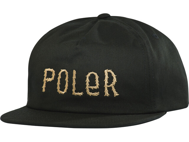 POLER Fur Font Snapback Lakki, black